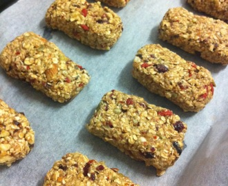Fat Free, Sugar Free, Full Of Goodness, Vegan Muesli Bars.
