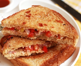 Pizza sandwich recipe, how to make pizza sandwich