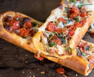 BRAZILIAN FLAIR HOT BRUSCHETTA SANDWICH