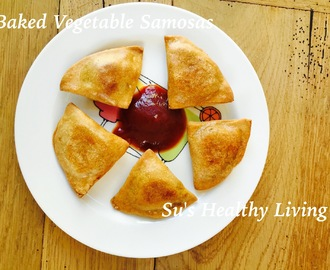 Baked Vegetable Samosas; Diabetes Friendly Thursday