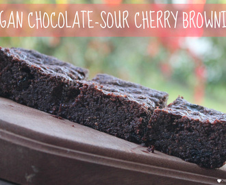 Vegan brownies with sour cherries, and a Loving Earth prize pack giveaway!