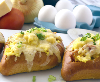 Baked Egg Boats #Brunchweek
