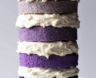 Naked Purple Ombre Cake