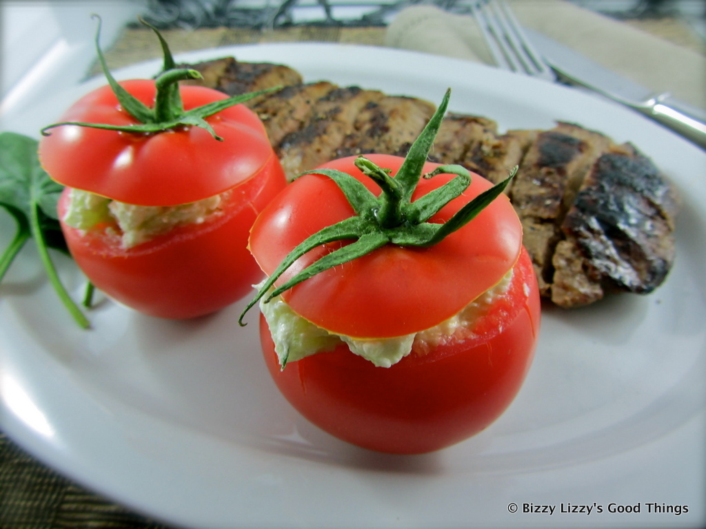 Tomatoes Stuffed with Fetta, Cucumber & Dill