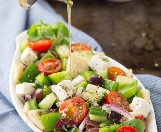 Chopped Greek Panzanella Salad