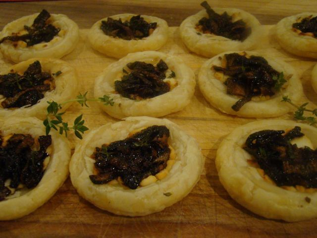 Caramelised Onion and Goats Cheese Tarts