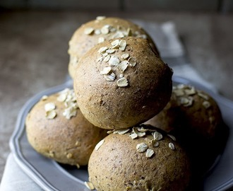 Flax Oat Wheat Dinner Rolls for #BreadBakers