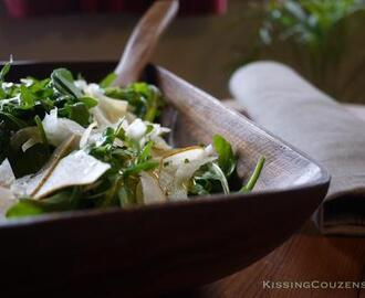 Pear, Rocket and Fennel Salad with Orange Dressing