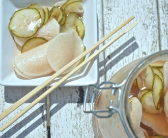 Pickled Daikon and Cucumber