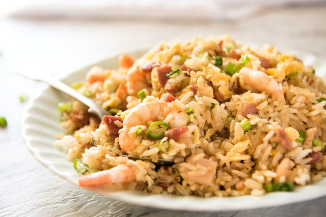 Chinese Fried Rice with Shrimp / Prawns