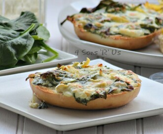Spinach & Artichoke Bagel Melts