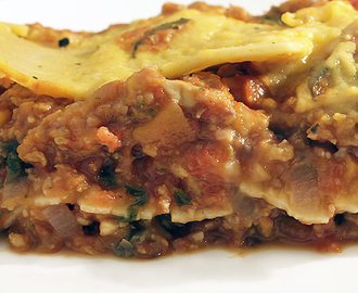Vegan Lasagna with Pumpkin Bechamel Sauce