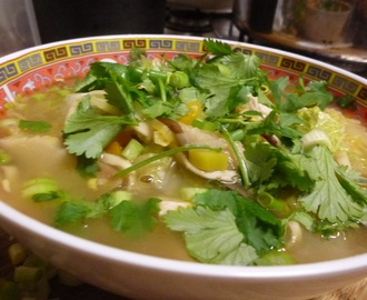 the perfect flu comfort soup - Asian influenced chicken noodle soup