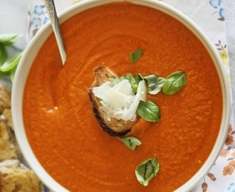 Roaming Cow product review (2) and a recipe for roast cream of tomato soup with Greek yoghurt