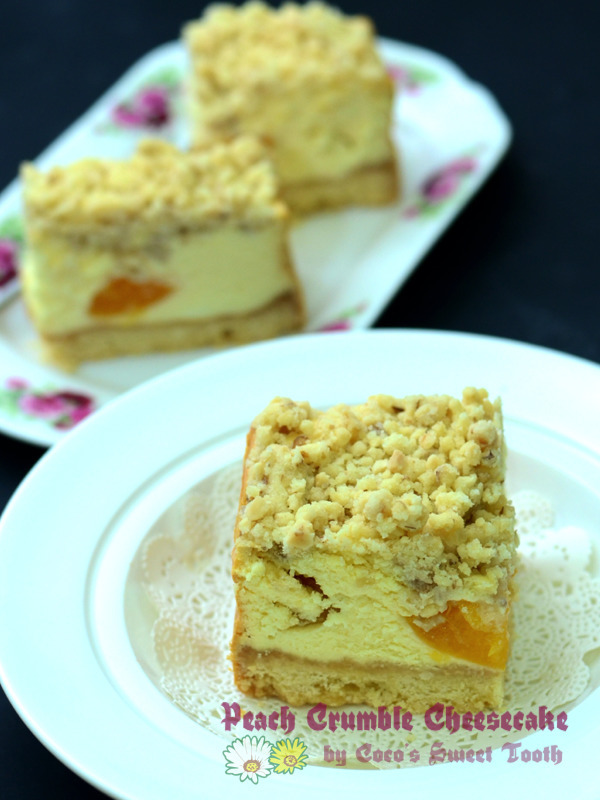 酥碎水蜜桃芝士蛋糕 Crumble Peach Cheesecake....... My distant love