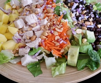 Chopped chicken salad with Creamy & Spicy Thai Peanut dressing