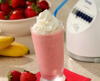 Recette dessert rapide Strawberry Banana Smoothie