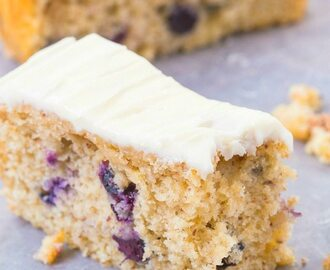 Healthy Flourless Lemon Blueberry Breakfast Cake