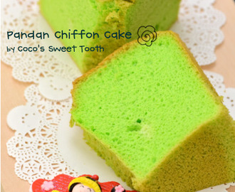 Pandan Chiffon Cake....... simple yet unresistable