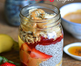 Peanut Butter and Jam Chia Seed Breakfast Pudding (Giveaway)