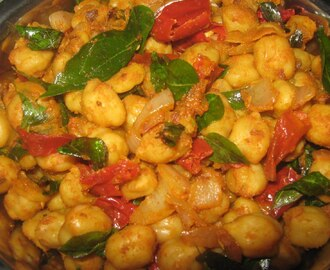 Dry Curry Chickpeas