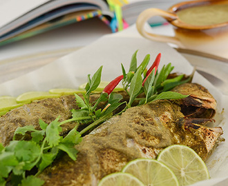 Samoan Whole Roasted Fish with Coconut Sauce