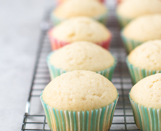 Witte vanille cupcakes