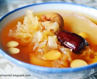 Nourishing Soups and Teas - Post #2 : Snow Pear Soup with Almond Seeds and White Fungus