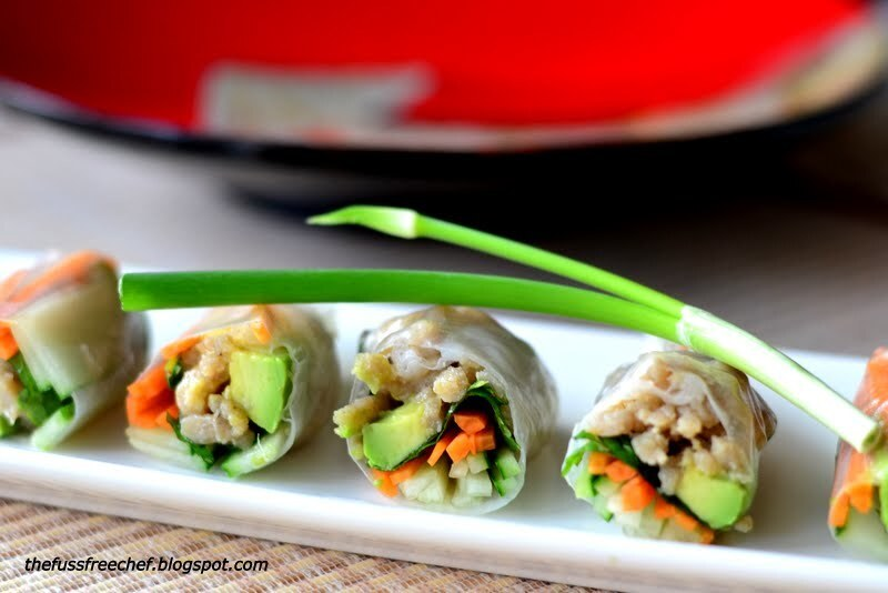 Vietnamese Rice Rolls with Lemongrass Chicken