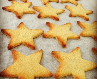 Healthy Christmas Star Cookies