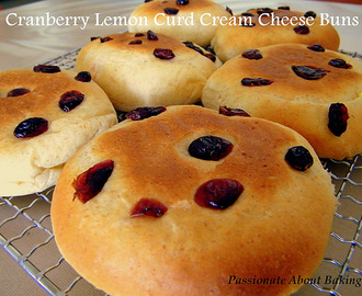 Cranberry Lemon Curd Cream Cheese Buns