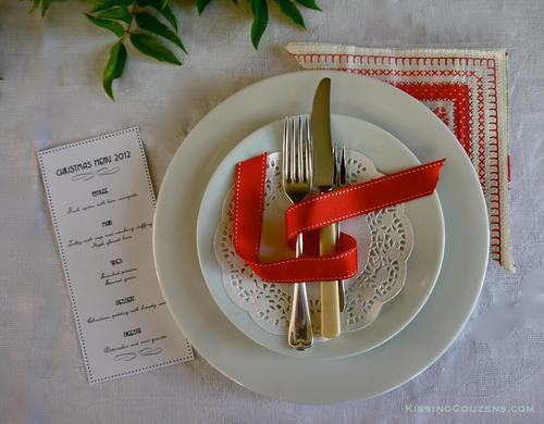 My Christmas Lunch Menu