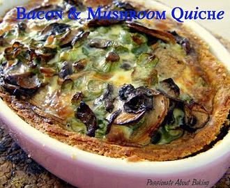 Bacon & Mushrooms Quiche