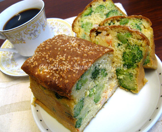 French Savoury Cake With Shrimp And Broccoli