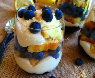 Blueberry and Limoncello Cream Parfaits