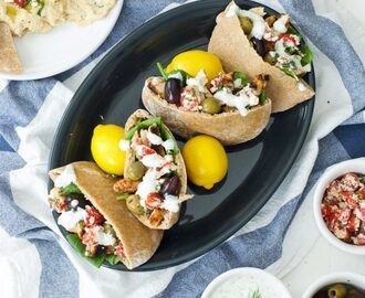 Greek Pitas with Tzatziki Sauce and Homemade Pita Bread