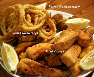Fish Fry Time! Grouper Fillets, Vidalia Onion Rings and Fish Fry Cole Slaw!