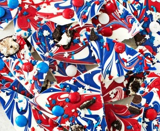 Red White and Blue Bark