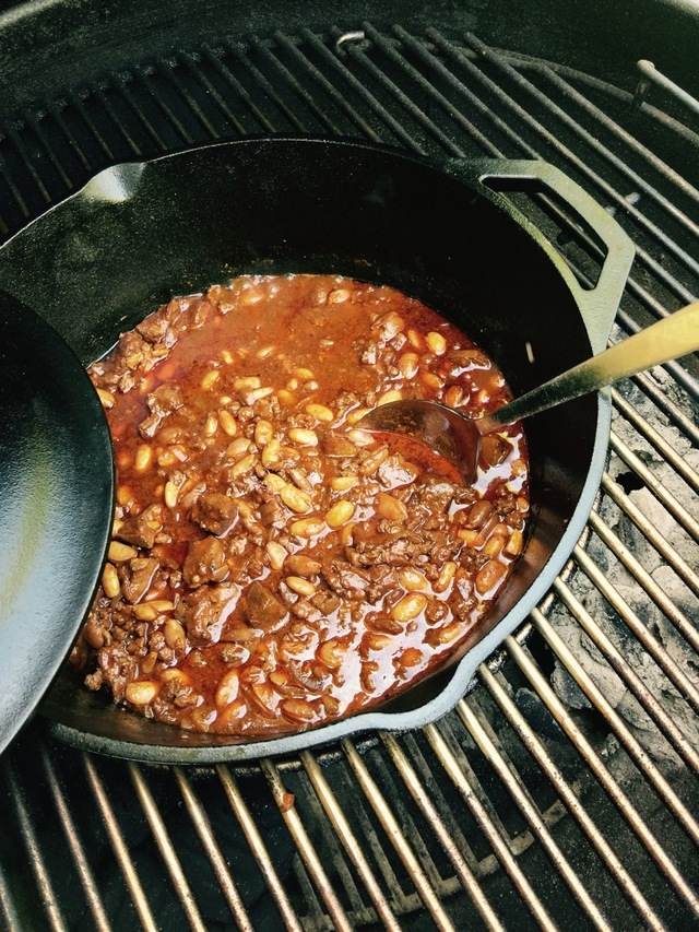 Venison Chili on the Grill