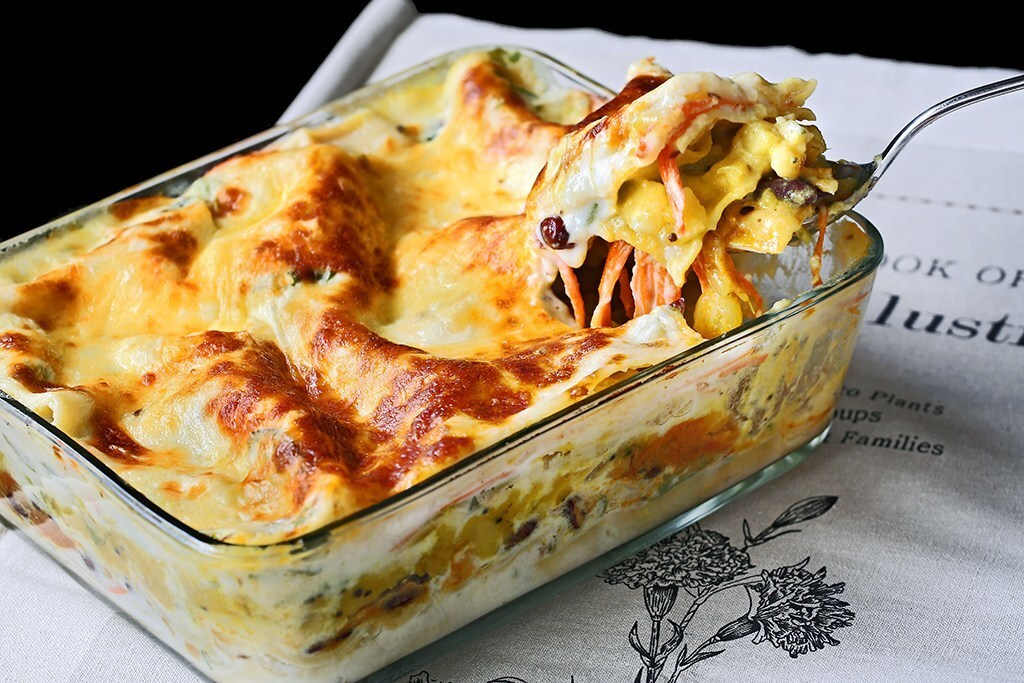Indian Fusion Vegetarian Lasagne