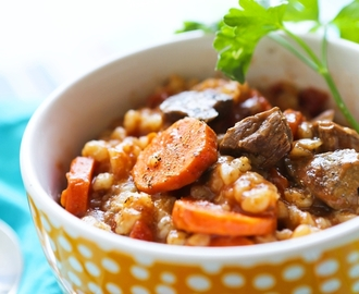 Best Ever Crockpot Beef and Barley Soup