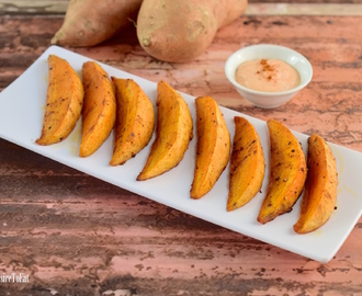 Sweet Potato Wedges with Mayo Chili Sauce