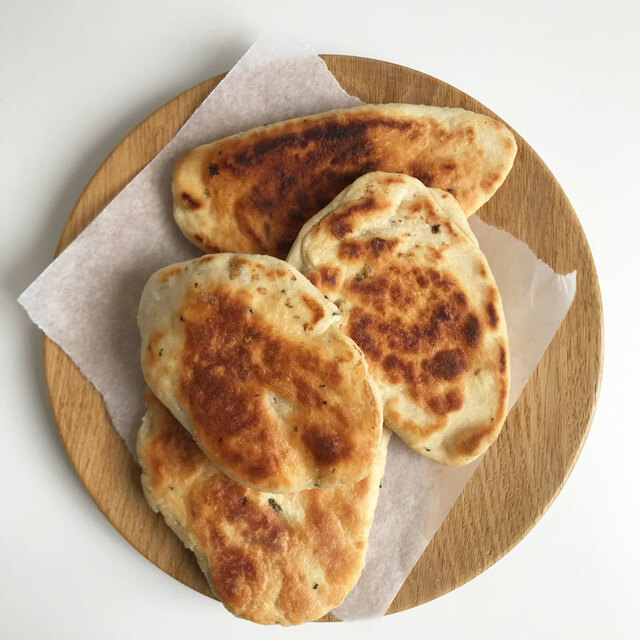 Vegan naan brood