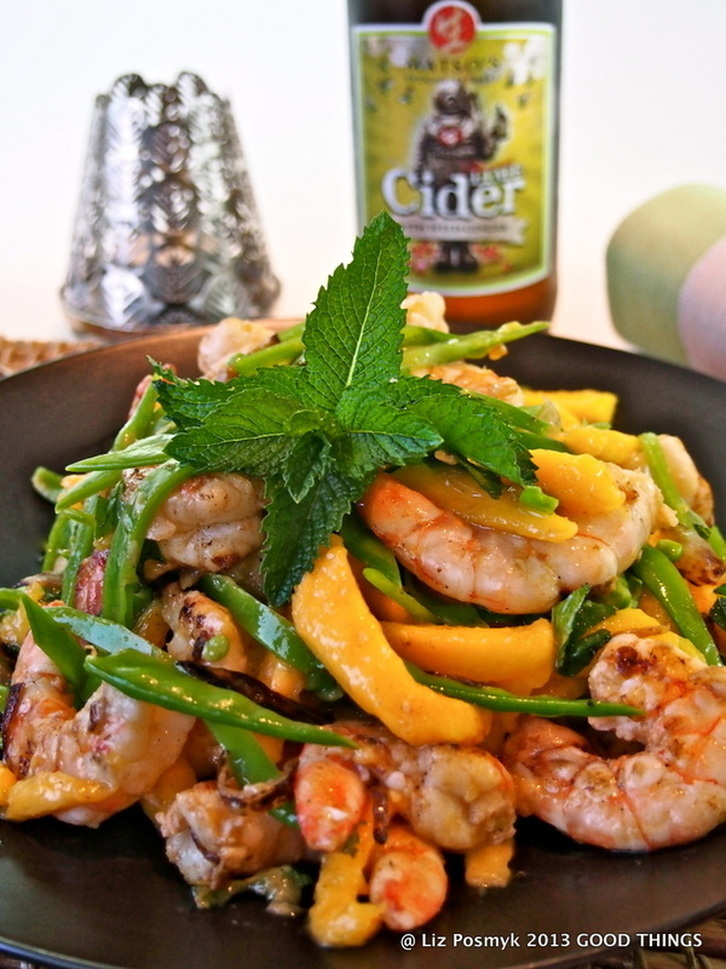 Luke Nguyen's warm mango & prawn salad recipe