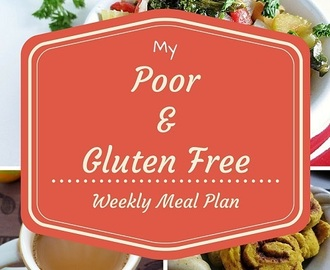 My Gluten Free Weekly Meal Plan