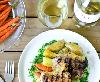 Grilled Chicken Thighs with Italian Salsa Verde
