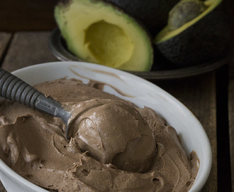 Mexican Chocolate Avocado Ice Cream