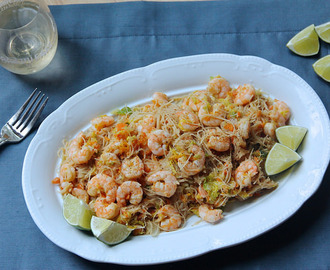 Filipino Pansit with Shrimp & Lime + How To YouTube Video