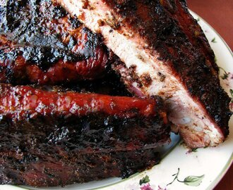 Grilled Cajun Blueberry BBQ Ribs