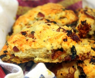 BLT Scones Bacon - Basil -  Sun Dried Tomatoes - 52 Church PotLuck Breakfast Ideas Catering Recipes
